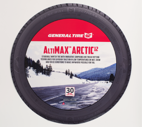 General Tire Wheel Label