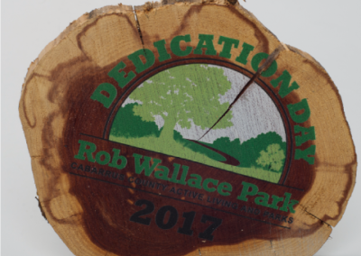 Rob Wallace Dedication Date Wood Print